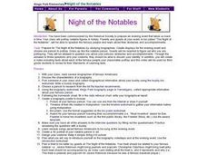Night of the Notables Lesson Plan