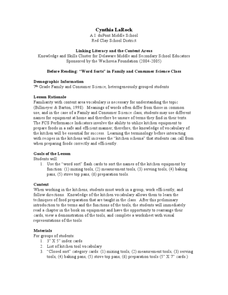 Kitchen vocabulary words lesson plan for 7th grade lesson planet Kitchen design lesson plans