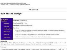 Salt Water Wedge Lesson Plan