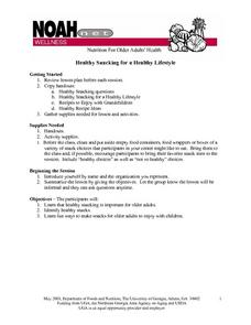 Healthy Snacking for a Healthy Lifestyle Lesson Plan