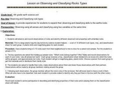 Observing and Classifying Rocks Lesson Plan
