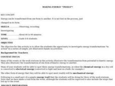 "Making Energy ""trails"" Lesson Plan"