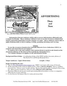 Advertising Then and Now Lesson Plan