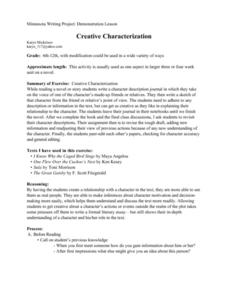 Creative Characterization Lesson Plan