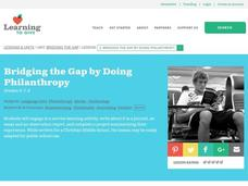 Bridging the Gap by Doing Philanthropy Lesson Plan