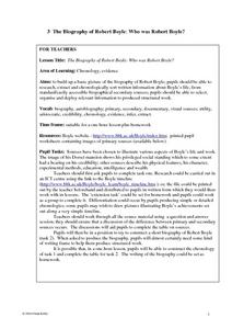 The Biography of Robert Boyle Lesson Plan