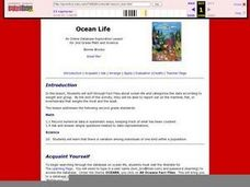 Ocean Life: A Heavy Subject Lesson Plan