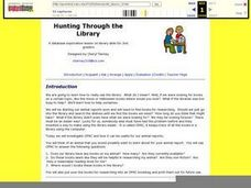 Hunting Through the Library Lesson Plan