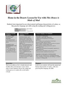 Home in the Desert: Lesson for Use with This House is Made of Mud Lesson Plan