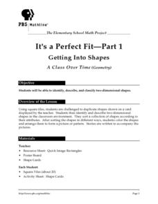 It's a Perfect Fit (Parts 1 through 3) Lesson Plan