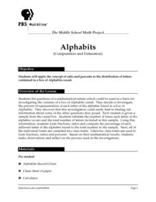 Alphabits (Computation and Estimation) Lesson Plan