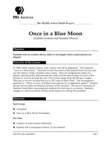 Once in a Blue Moon (Number Systems and Number Theory) Lesson Plan