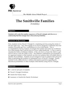 The Smithville Families (Probability) Lesson Plan