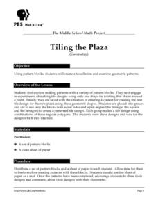 Tiling the Plaza (Geometry) Lesson Plan