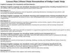 Power Point Presentation of Fudge Comic Strip Lesson Plan