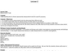 Lesson 2: Measurement Tools Lesson Plan