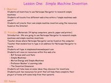 Simple Machine Invention Lesson Plan