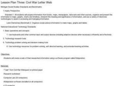 Civil War Letter Web Lesson Plan
