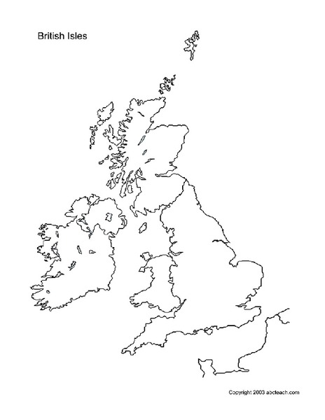 british isles map blank British Isles Worksheet For 4th 6th Grade Lesson Planet british isles map blank