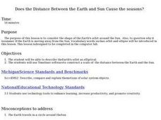 Does the Distance Between the Earth and Sun Cause the seasons? Lesson Plan