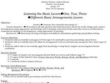 Learning the Basic Levers...One, Two, Three: Different Basic Arrangements Levers Lesson Plan