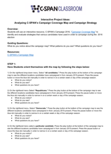 Campaign Coverage Map and Campaign Strategy Lesson Plan