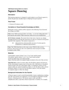 Square Dancing Lesson Plan