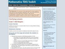 Math Bargains Lesson Plan