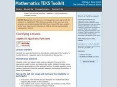 Algebra II: Quadratic Functions Lesson Plan