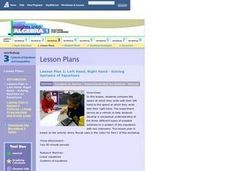 Left Hand, Right Hand - Solving Systems of Equations Lesson Plan