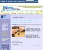 Mathematical Modeling, Circular Movement and Transmission Ratios Lesson Plan