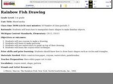 Rainbow Fish Drawing Lesson Plan