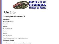 Music in Kindergarten Lesson Plan