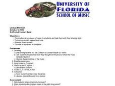Concert Band Lesson Lesson Plan