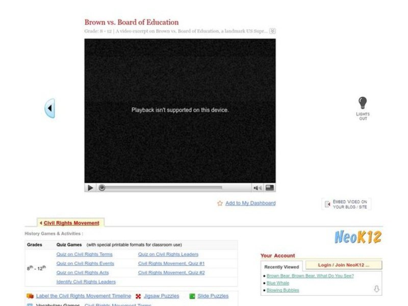 Brown v. Board of Education Video