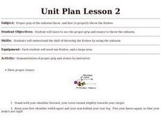 Frisbee Golf - Lesson 2 Lesson Plan