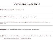 Frisbee Golf - Lesson 3 Lesson Plan