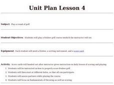 Frisbee Golf - Lesson 4 Lesson Plan