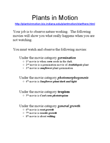 Plants in Motion Lesson Plan