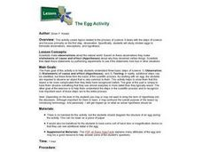 The Egg Activity Lesson Plan