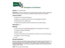 Bioregions of California Lesson Plan