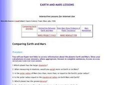 Comparing Earth and Mars Lesson Plan