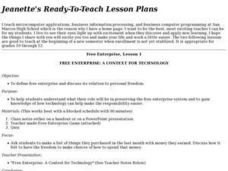 Free Enterprise: A Context for Technology Lesson Plan