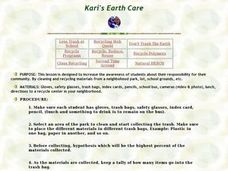 Kari's Earth Care Lesson Plan