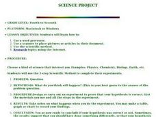 Science Project Lesson Plan