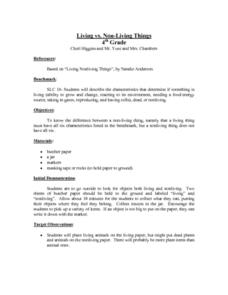 Living vs. Non-Living Things Lesson Plan