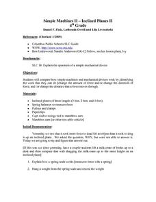 Simple Machines II - Inclined Planes II Lesson Plan