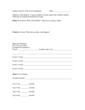 One Sweet Experiment Worksheet