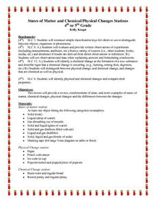 States of Matter and Chemical/Physical Changes Stations Lesson Plan
