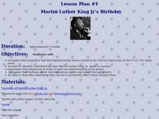 Martin Luther King Jr's Birthday Lesson Plan